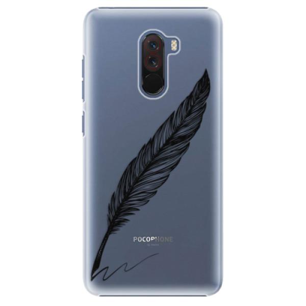 Plastové pouzdro iSaprio - Writing By Feather - black - Xiaomi Pocophone F1