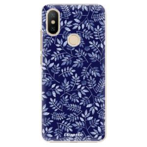 Plastové pouzdro iSaprio - Blue Leaves 05 na mobil Xiaomi Mi A2
