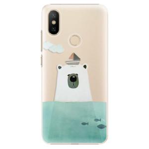 Plastové pouzdro iSaprio - Bear With Boat na mobil Xiaomi Mi A2