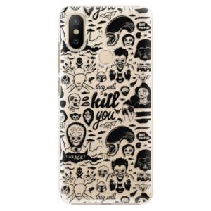 Plastové pouzdro iSaprio - Comics 01 - black na mobil Xiaomi Mi A2