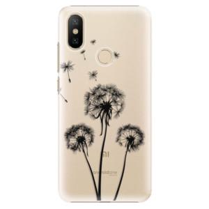 Plastové pouzdro iSaprio - Three Dandelions - black na mobil Xiaomi Mi A2