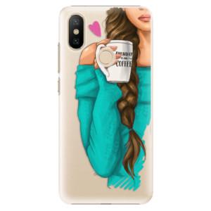 Plastové pouzdro iSaprio - My Coffe and Brunette Girl na mobil Xiaomi Mi A2