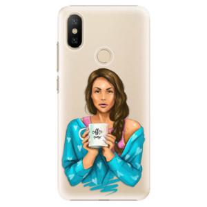 Plastové pouzdro iSaprio - Coffe Now - Brunette na mobil Xiaomi Mi A2