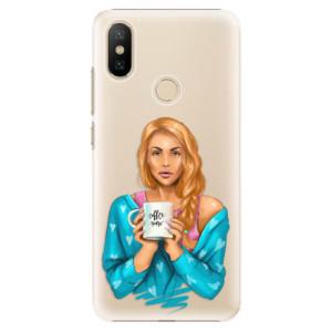 Plastové pouzdro iSaprio - Coffe Now - Redhead na mobil Xiaomi Mi A2