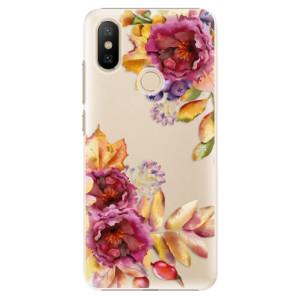 Plastové pouzdro iSaprio - Fall Flowers na mobil Xiaomi Mi A2