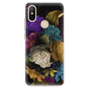 Plastové pouzdro iSaprio - Dark Flowers na mobil Xiaomi Mi A2