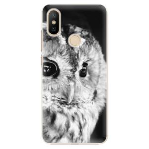 Plastové pouzdro iSaprio - BW Owl na mobil Xiaomi Mi A2