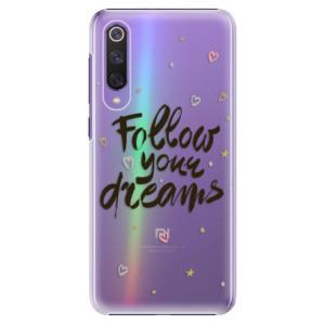 Plastové pouzdro iSaprio - Follow Your Dreams - black na mobil Xiaomi Mi 9 SE