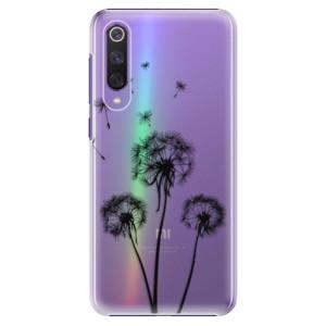 Plastové pouzdro iSaprio - Three Dandelions - black na mobil Xiaomi Mi 9 SE