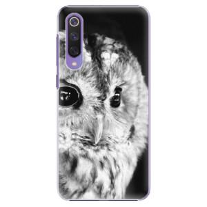 Plastové pouzdro iSaprio - BW Owl na mobil Xiaomi Mi 9 SE