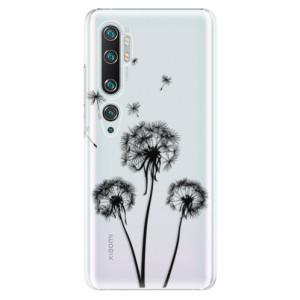 Plastové pouzdro iSaprio - Three Dandelions - black na mobil Xiaomi Mi Note 10 / Note 10 Pro