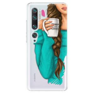 Plastové pouzdro iSaprio - My Coffe and Brunette Girl na mobil Xiaomi Mi Note 10 / Note 10 Pro