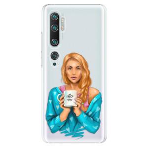 Plastové pouzdro iSaprio - Coffe Now - Redhead na mobil Xiaomi Mi Note 10 / Note 10 Pro