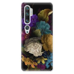 Plastové pouzdro iSaprio - Dark Flowers na mobil Xiaomi Mi Note 10 / Note 10 Pro