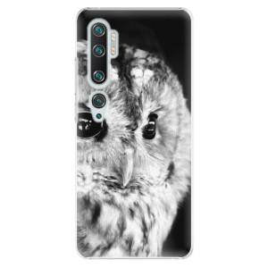Plastové pouzdro iSaprio - BW Owl na mobil Xiaomi Mi Note 10 / Note 10 Pro
