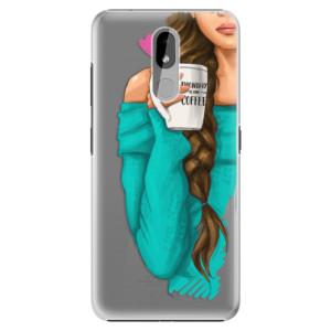 Plastové pouzdro iSaprio - My Coffe and Brunette Girl na mobil Nokia 3.2