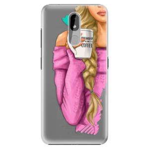 Plastové pouzdro iSaprio - My Coffe and Blond Girl na mobil Nokia 3.2