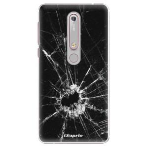 Plastové pouzdro iSaprio - Broken Glass 10 na mobil Nokia 6.1