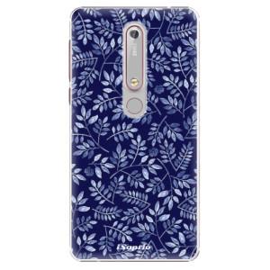Plastové pouzdro iSaprio - Blue Leaves 05 na mobil Nokia 6.1