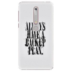 Plastové pouzdro iSaprio - Backup Plan na mobil Nokia 6.1