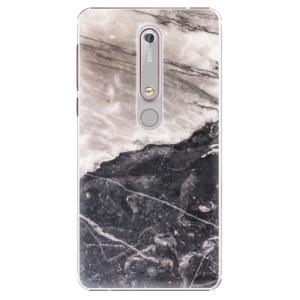 Plastové pouzdro iSaprio - BW Marble na mobil Nokia 6.1