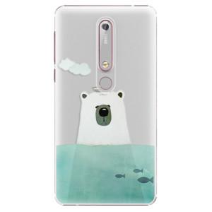Plastové pouzdro iSaprio - Bear With Boat na mobil Nokia 6.1