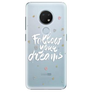Plastové pouzdro iSaprio - Follow Your Dreams - white na mobil Nokia 6.2