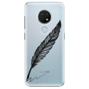 Plastové pouzdro iSaprio - Writing By Feather - black na mobil Nokia 6.2 / Nokia 7.2 - poslední kousek za tuto cenu
