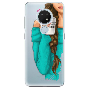 Plastové pouzdro iSaprio - My Coffe and Brunette Girl na mobil Nokia 6.2