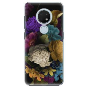 Plastové pouzdro iSaprio - Dark Flowers na mobil Nokia 6.2