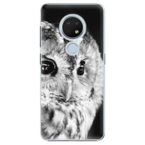 Plastové pouzdro iSaprio - BW Owl na mobil Nokia 6.2
