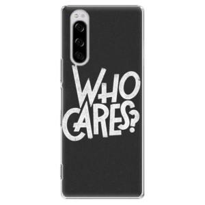 Plastové pouzdro iSaprio - Who Cares na mobil Sony Xperia 5