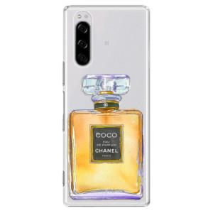 Plastové pouzdro iSaprio - Chanel Gold na mobil Sony Xperia 5