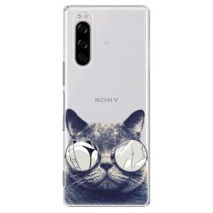 Plastové pouzdro iSaprio - Crazy Cat 01 na mobil Sony Xperia 5