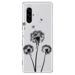 Plastové pouzdro iSaprio - Three Dandelions - black na mobil Sony Xperia 5