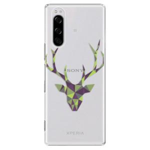 Plastové pouzdro iSaprio - Deer Green na mobil Sony Xperia 5