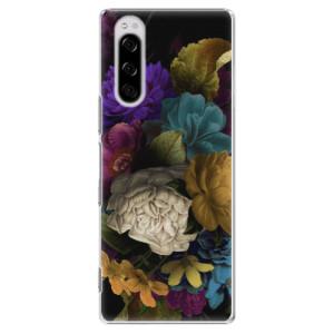 Plastové pouzdro iSaprio - Dark Flowers na mobil Sony Xperia 5