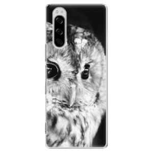 Plastové pouzdro iSaprio - BW Owl na mobil Sony Xperia 5