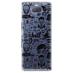 Plastové pouzdro iSaprio - Comics 01 - black na mobil Sony Xperia 10