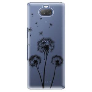 Plastové pouzdro iSaprio - Three Dandelions - black na mobil Sony Xperia 10