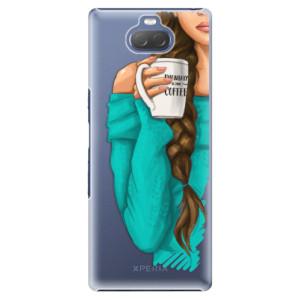 Plastové pouzdro iSaprio - My Coffe and Brunette Girl na mobil Sony Xperia 10