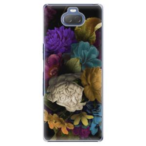 Plastové pouzdro iSaprio - Dark Flowers na mobil Sony Xperia 10