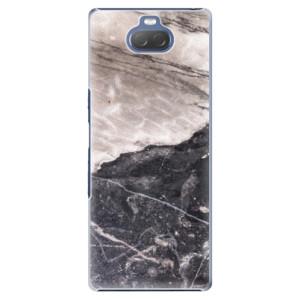 Plastové pouzdro iSaprio - BW Marble na mobil Sony Xperia 10 Plus