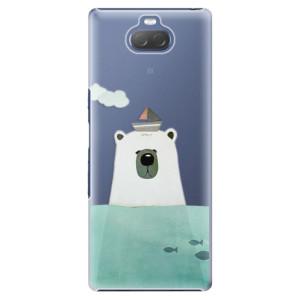 Plastové pouzdro iSaprio - Bear With Boat na mobil Sony Xperia 10 Plus