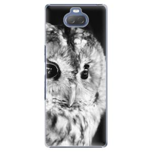 Plastové pouzdro iSaprio - BW Owl na mobil Sony Xperia 10 Plus