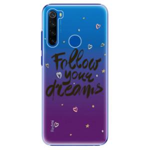Plastové pouzdro iSaprio - Follow Your Dreams - black na mobil Xiaomi Redmi Note 8T
