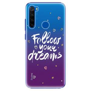 Plastové pouzdro iSaprio - Follow Your Dreams - white na mobil Xiaomi Redmi Note 8T
