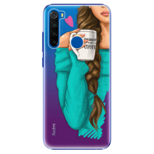 Plastové pouzdro iSaprio - My Coffe and Brunette Girl na mobil Xiaomi Redmi Note 8T