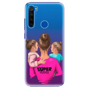 Plastové pouzdro iSaprio - Super Mama - Two Girls na mobil Xiaomi Redmi Note 8T - poslední kus za tuto cenu