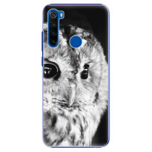 Plastové pouzdro iSaprio - BW Owl na mobil Xiaomi Redmi Note 8T